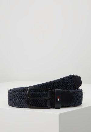 DENTON ELASTIC - Braided belt - blue