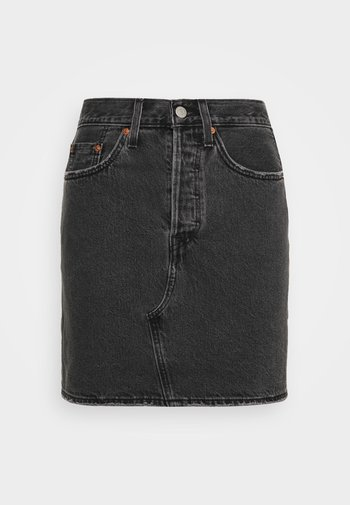 DECON ICONIC SKIRT - Minifalda - black denim