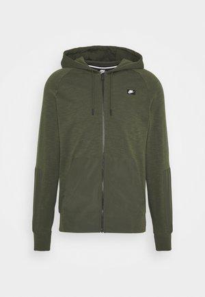 HOODIE - veste en sweat zippée - cargo khaki