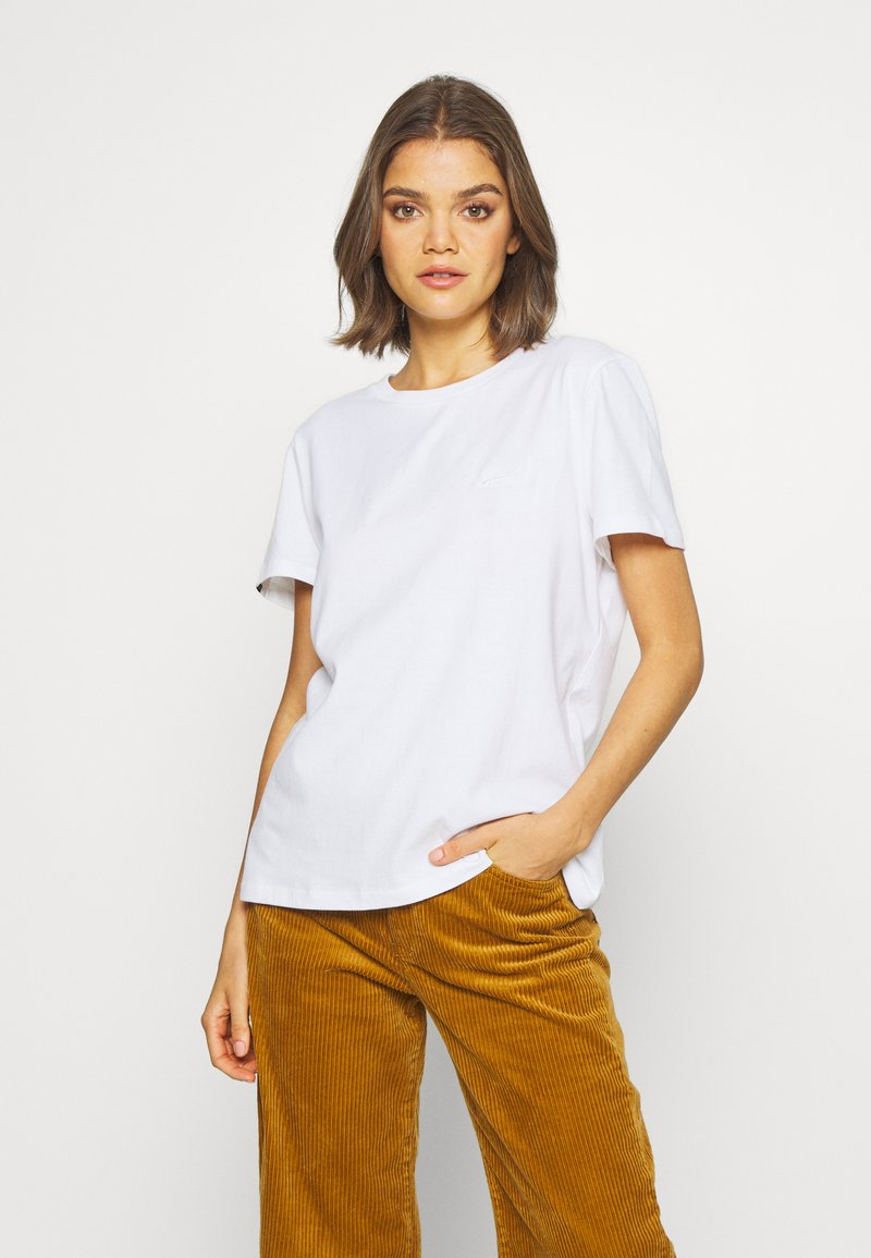Superdry - ELITE CREW TEE - T-shirts - white