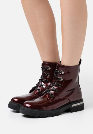 Lace-up ankle boots - vino