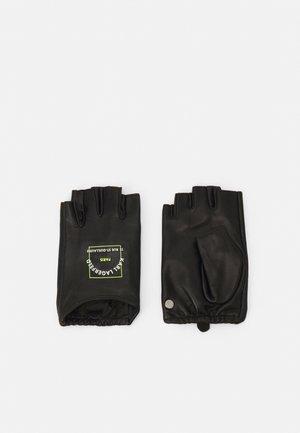 PATCH GLOVE - Fingerhansker - black
