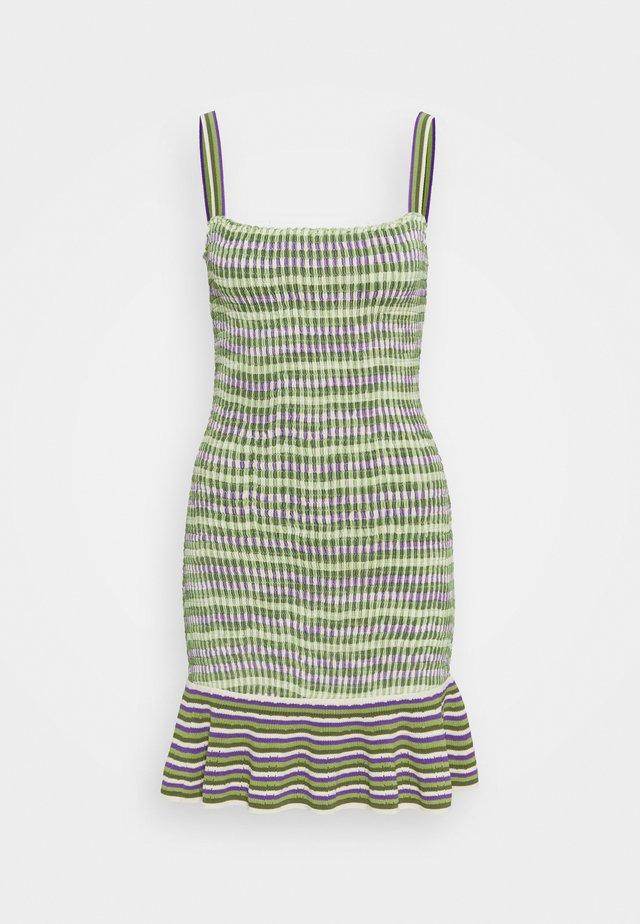 Gebreide jurk - vert