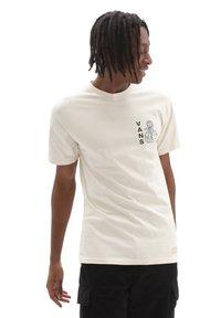 Vans - MN VANS WORLD CODE SS - Print T-shirt - oatmeal - 0