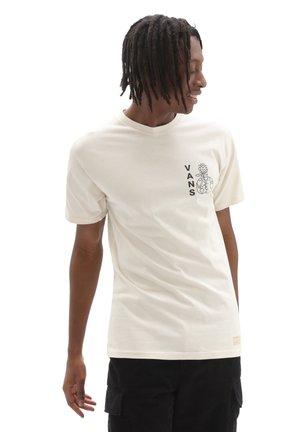 MN VANS WORLD CODE SS - Print T-shirt - oatmeal