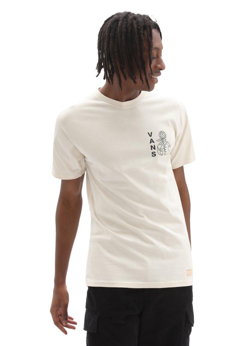Vans - MN VANS WORLD CODE SS - Print T-shirt - oatmeal
