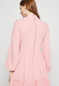 Closet - HIGH COLLAR MINI DRESS - Day dress - blush - 3