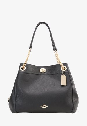 POLISHED TURNLOCK EDIE  - Handbag - black