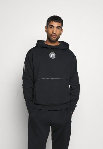 NBA BROOKLYN NETS CITY EDITION HOODIE - Klubbkläder - black