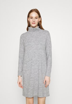 PCPAM HIGH NECK DRESS - Jumper dress - light grey melange