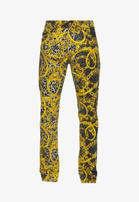 Versace Jeans Couture - MILANO ALLOVER PRINT - Slim fit jeans - black - 5