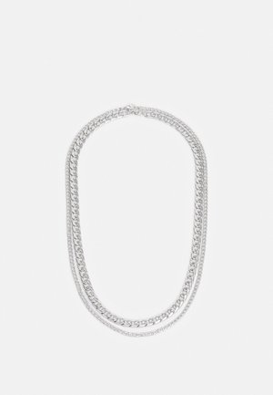 CHUNKY CHAIN MULTIROW 2 PACK - Necklace - silver-coloured
