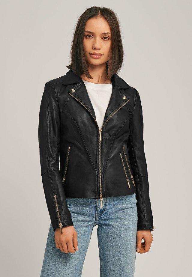 CHERRY - Leren jas - black