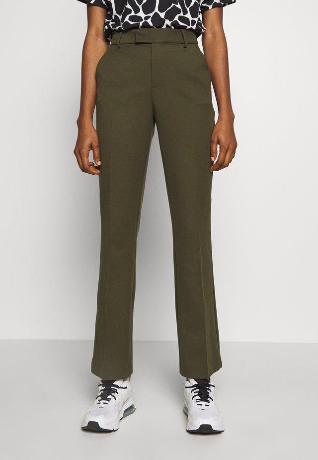 MAII - Spodnie materiałowe - green leaf