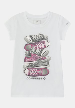 SHOE STACK TEE - Print T-shirt - white