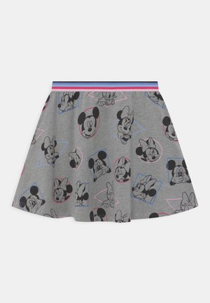 MINNIE - Mini skirt - mottled grey
