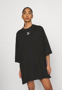 Puma - CLASSICS TEE DRESS - Vestito di maglina - black - 0