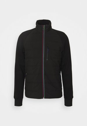 MENS MIXED MEDIA JACKET - Light jacket - black