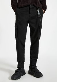 PULL&BEAR - Cargo trousers - black - 0