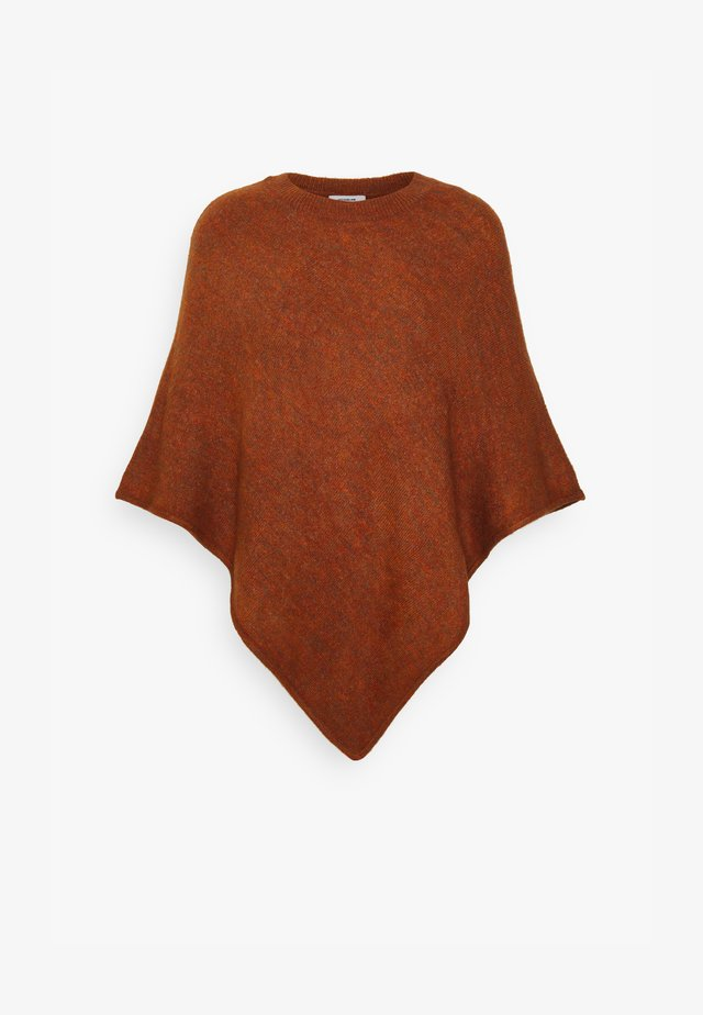 JDYELANOR PONCHO  - Cape - brown melange