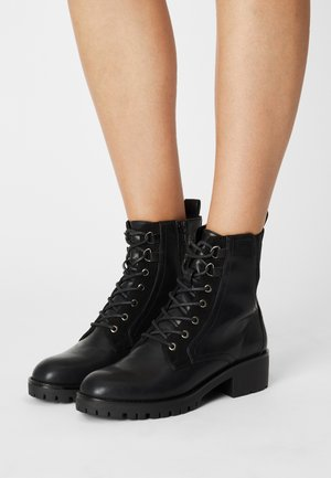 COMFORT - Lace-up ankle boots - black