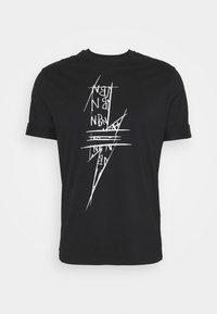 Neil Barrett - SCRIBBLE BOLT - T-shirt con stampa - black/white - 4