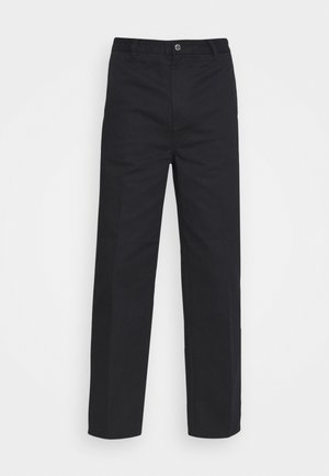 ROSS WIDE TROUSERS - Tygbyxor - black