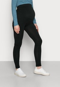 Anna Field MAMA - 7/8 LENGTH MATERNITY LEGGINGS 2 PACK - Leggings - black - 1