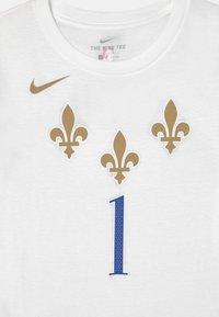 Nike Performance - NBA CITY EDITION ZION WILLIAMSON NEW ORLEANS UNISEX - Club wear - white - 2