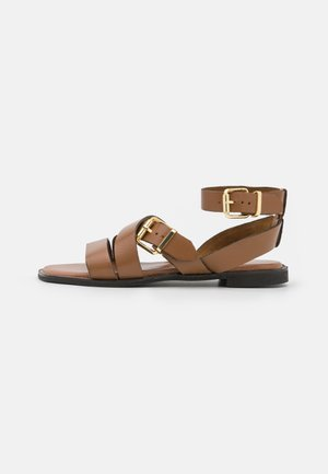 WIDE FIT BIANCA - Sandals - tan
