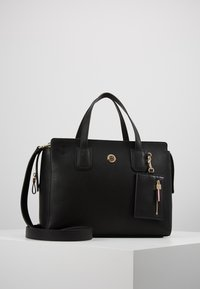 Tommy Hilfiger - CHARMING TOMMY SATCHEL - Handbag - black - 0