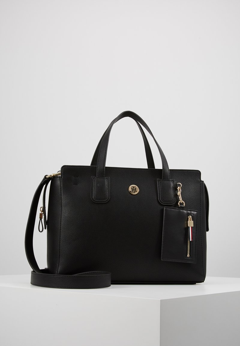 Tommy Hilfiger - CHARMING TOMMY SATCHEL - Handbag - black