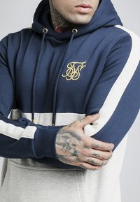 SIKSILK - CUT & SEW TAPED HOODIE - Hoodie - navy/snow marl - 4