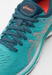 ASICS - GEL-KAYANO 27 - Stabilty running shoes - techno cyan/sunrise red - 5