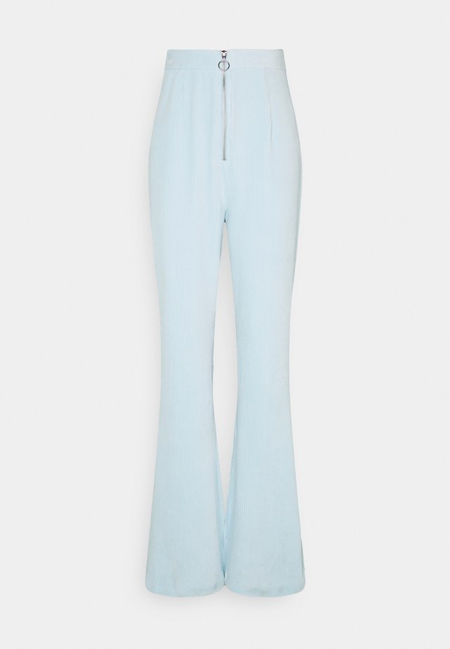 ZIP FRONT FLARE - Kalhoty - baby blue