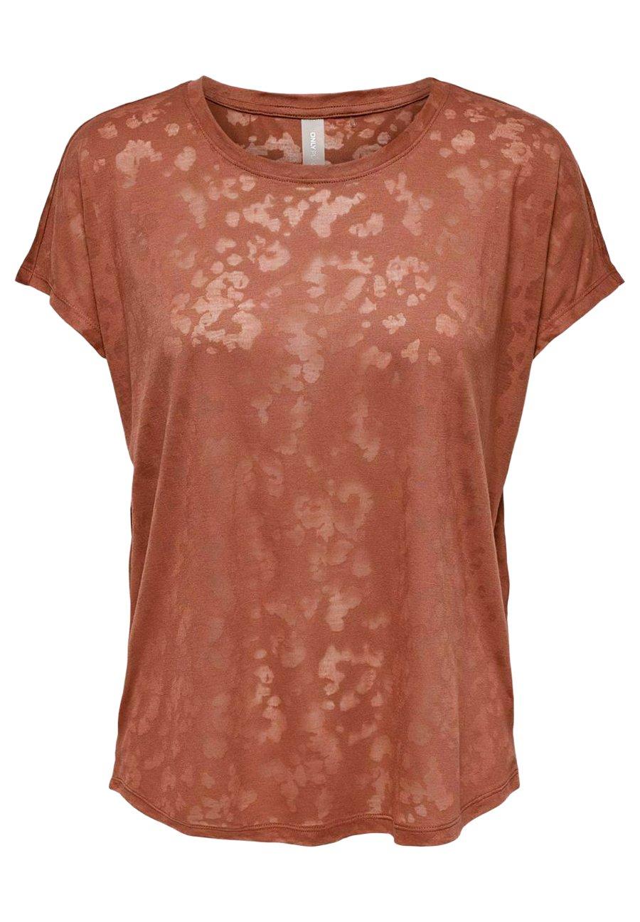 Femme ONPMARNA LOOSE BURN OUT TEE - T-shirt imprimé