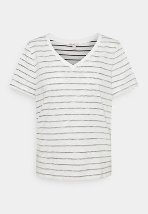 STRIPE - Print T-shirt - off white