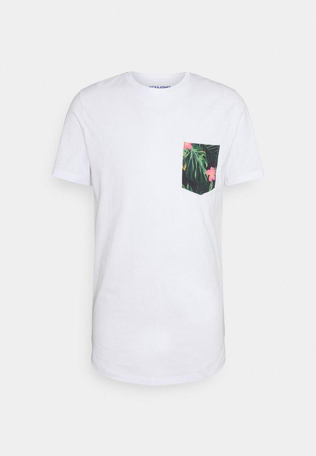JORPAAN TEE CREW NECK - T-shirt imprimé - white