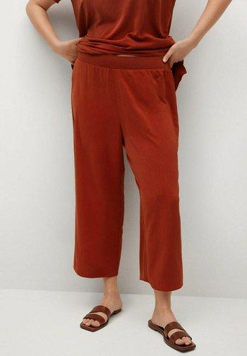 Spodnie materiałowe - rubinrot