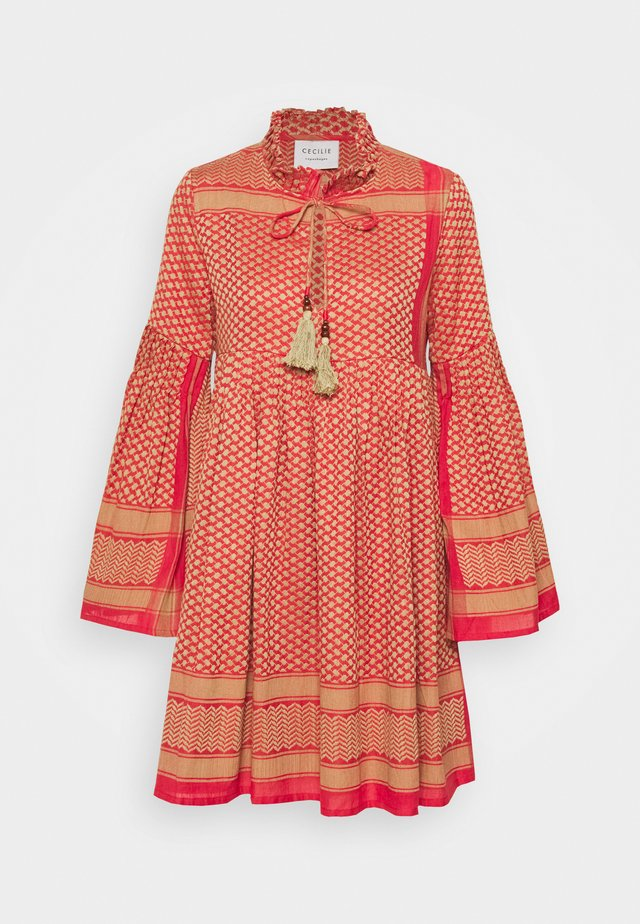 SOUZARICA - Day dress - camel/red