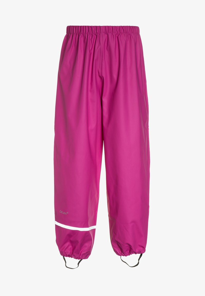 CeLaVi - RAINWEAR PANTS SOLID UNISEX - Rain trousers - real pink