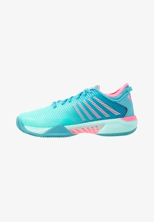 HYPERCOURT SUPREME HB - Clay court tennis shoes - arbua blue/maui blue/soft neon pink