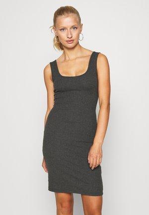 Shift dress - mottled dark grey