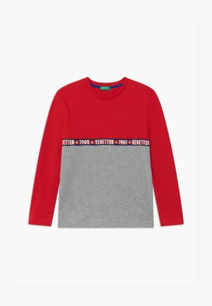 BASIC BOY - Top s dlouhým rukávem - red/grey