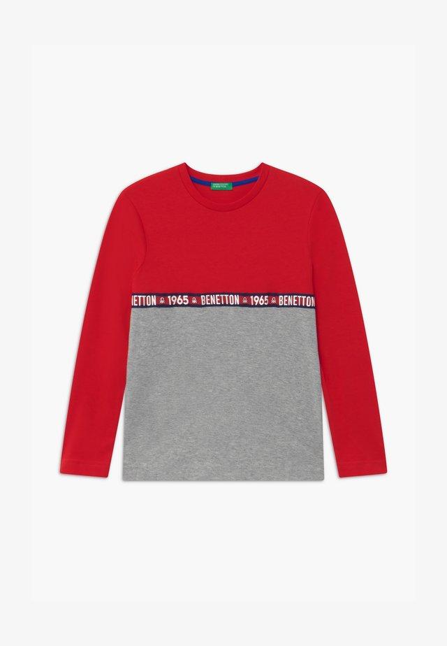 BASIC BOY - Långärmad tröja - red/grey