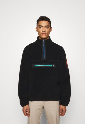 HALF ZIP UNISEX - Bluza z polaru - black