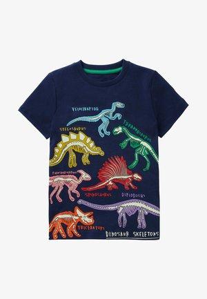 Print T-shirt - schuluniform-navy, dinos