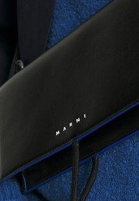 Marni - MUSEO SOFT MINI UNISEX - Across body bag - black/navy blue - 3