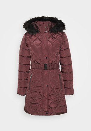 LONG PUFFER COAT - Veste d'hiver - wine