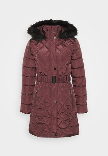 LONG PUFFER COAT - Zimní kabát - wine